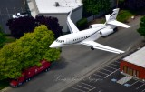 2008 DASSAULT DASSAULT-FALCON 2000 over Georgetown neighborhood Seattle, Washington 041