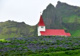 Vikurkikja in village of Vik, Iceland 399