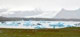 Icebergs in  Jökulsárlón glacial lagoon and Breiomerkurjokull glacier, Iceland 1144