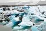 Icebergs in  Jökulsárlón glacial lagoon and Breiomerkurjokull glacier, Iceland 1217