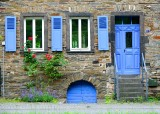 Blue doors and shutters 13, Ellenz, Moselle River Valley, Germany 440