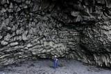 Column basalt in Hálsanefshellir cave. Vik Iceland 1562