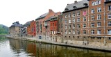 Buildings along Quai des Joghiers, Sambre River, Namur Belgium 055