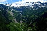 Waterfalls and snowfield on Lennox Mountain, Cascade Mountains, Washington 151