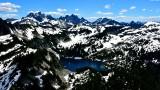 Gold Lake, Big Snow Mtn, Oercoat Peak, Chimney Rock, Lemah Mountain, Cascade Mountains, Washington 442