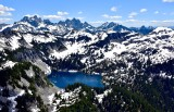 Gold Lake, Big Snow Mtn, Oercoat Peak, Chimney Rock, Lemah Mountain, Cascade Mountains, Washington 445
