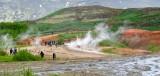 Strokkur Geyser at Geysir Hafnartún Selfoss Iceland