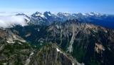 Box Ridge and Mt, Three Queens, Chikamin Peak, Lemah Mt, Chimney Rock, Summit Chief, Glacier Peak, Bear Breast, Mt Daniel 301