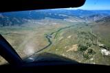High final to Gardiner airport in Paradise Valley, Yellowstone River, Gardiner, Montana 226