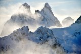 Chimney Rock in strong wind along Cascade Mountains Washington State 243