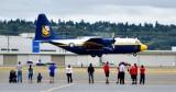 Watching Fat Alberts Blue Angels C-130 Boeing Field, Seattle Washington 138
