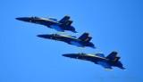 Blue Angels 1, 2, 3 over Boeing Field, Seattle Seafair, 2018 388