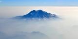 Forest fire  and smoke around Mount Rainier, Washington 071