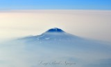 Mount Adams in smoke from Cessna CJ2 084