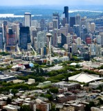 Space Needle, Seattle Skyline, Lower Queen Anne neighborhood, Pacific Science Center, Washigton 162