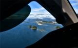 Base to final to runway 29 at Sitka Airport PASI, Alaska 049