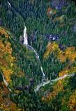 Troublesome Creek Waterfall in the fall base of Blanca Lake, Washington 487