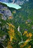 Troublesome Creek Waterfall in the fall base of Blanca Lake, Washington 489