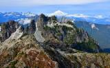 Gunn Peak, Columbia Peak, Glacier Peak in the fall 973