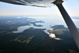 Flying over Lake Marion South Carolina 586