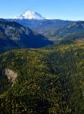 Mount Rainier and fall foliages in Crow Creek, Washington 360