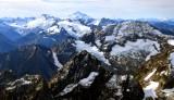 Hurry-up Peak, Trapper Mtn, Spider Mtn, Mount Formidable, Middle Cascade Glacier, Glacier Peak, Washington 234