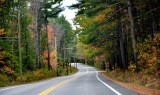 Driving on Harpswell Road 123, Brunswick, Maine 078