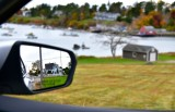 Looking back on Harpswell Island road and forward Marcherel Cove, Maine 533
