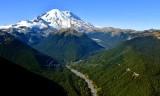 Mount Rainier National Park, Goat Island Mtn, Burroughs Mtn, Tamanos Mtn, Emmons Glacier, Sunrise Park, White River, Washington