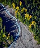 White River with fall foliage, Mount Rainier National Park, Washington 1045