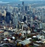 Iconic Space Needle, Pacific Science Center, Monorails, Seattle Skyline, Spokane Viaduct, Safeco Field, Washington 174a