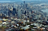Iconic Space Needle, Pacific Science Center, Monorails, Seattle Skyline, Spokane Viaduct, Safeco Field, Washington 174