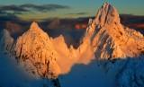 Gunn Peak at sunset in Cascade Mountains, Washington State 582