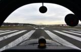 Waiting for departure on runway 14R at Boeing Field KBFI, Seattle, Washington State 038