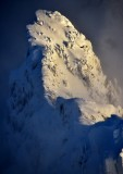 Gunn Peak in Mid-Afternoon Light, Cacade Mountains, Index, Washington State 694a