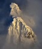 Gunn Peak in Mid-Afternoon Light, Cascade Mountains, Index, Washington State 691