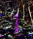 Space Needle and downtown Seattle on New Year Eve 2018, Washington 051