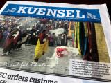 Newspaper with King Jigmie