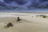 2N9B1618 strand Oosterend harde wind