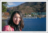 Mika at Lake Chūzenji