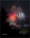 4th- fireworks over Spokane wa