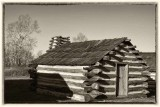 A Valley Forge Hut on a Cold December Day
