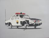 Cop Car on Blocks. 2002