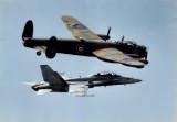 Lancaster and CF-18 Hornet