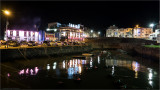 Portrush Harbour by night