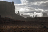 Rain And Clouds At Monument Valley, Navajo Nation, Arizona