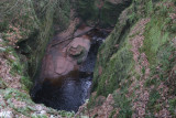 Looking down on the Devil's Pulpit