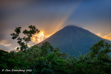 Mt. Arenal Approaching Sunset