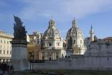 Twin churches near Vittorio Monument