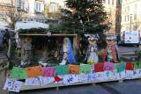 Nativity scene in Piazza San Cosimato